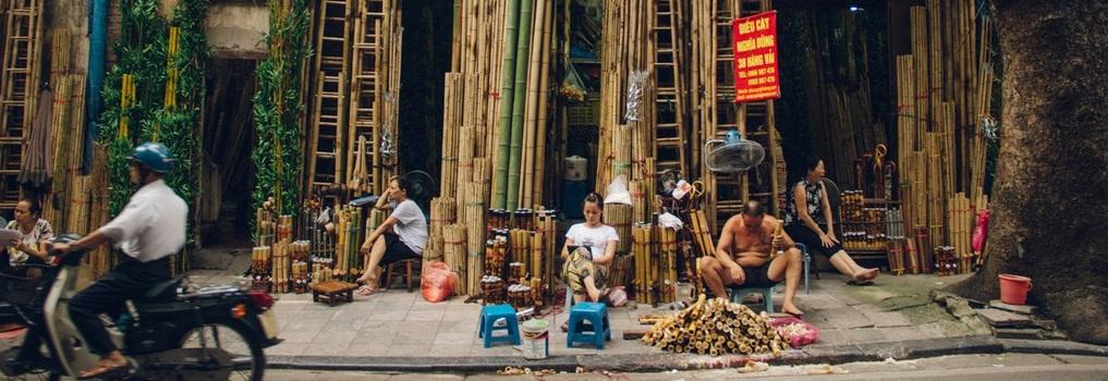 Популярные торговые улицы Ханоя